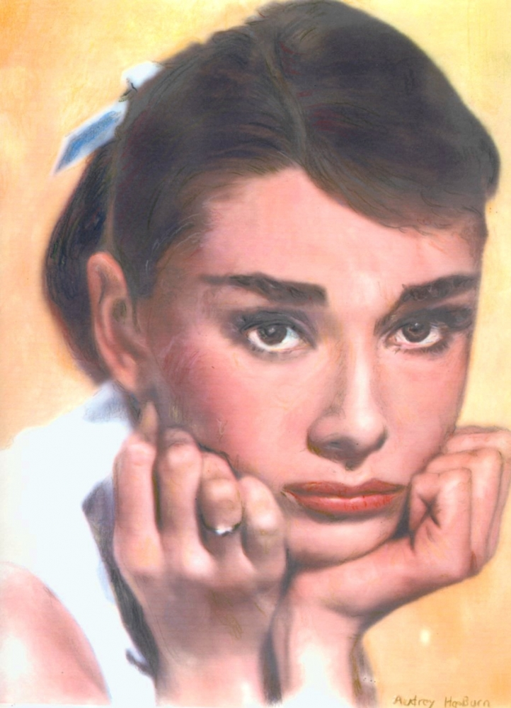 Audrey Hepburn by baudet